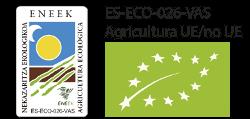 Sello Agricultura Ecológica UE y Productos avalados por el Consejo Regulador de Agricultura Ecológica del País Vasco